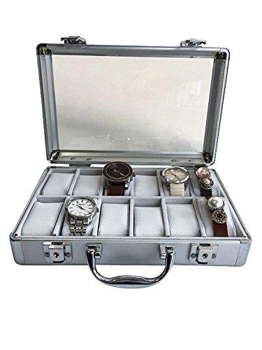 Uhrenkoffer aus Aluminium für 12 Uhren - 2