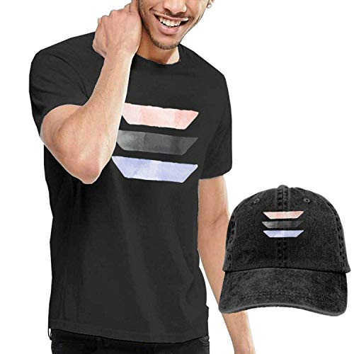 Kalinanai T-Shirts, T-Stücke, Brushed Lines Herren Soft Causal T-Shirt mit Unisex Fashion Denim Baseball Hats -