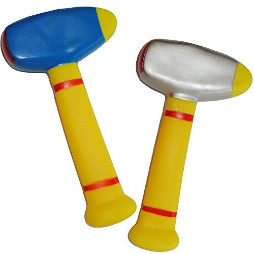 alles-meine GmbH 3 Stück _ Gummihammer / Softhammer - für Baby´s - Hammer weicher Babyhammer / Kinderhammer - Gummi weich Babyspielzeug Hammerspielzeug - lustiges Werkzeug / S..