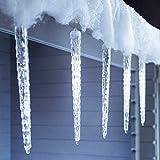 leazeal 8Falling Rain Drop/stalactites neige Fall Cordes Guirlande lumineuse LED à énergie solaire pour extérieur jardin Noël Arbre de Noël (Blanc)
