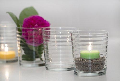 """Glasvase Vase Glas Kerzenglas """"Cylinder Lines"""" 6er Set"""