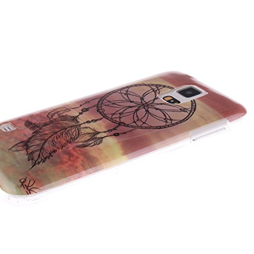 Samsung Galaxy S5 Mini hülle MCHSHOP Ultra Slim Skin Gel TPU hülle weiche Silicone Silikon Schutzhülle Case für Samsung Galaxy S5 Mini - 1 Kostenlose Stylus (Das Gesetz der Schwerkraft (The law of gra Campanula Tanzen mit Feder in rosa Himmel(Campanula da