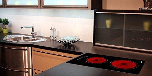 Viesta C2Z hochwertiges Glaskeramikkochfeld mit Überhitzungsschutz und 9 Kochstufen - Glaskeramikfeld mit Sensor-Touch-Display - Kochfeld Autark