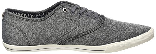 Jack & Jones Jfwspider Canvas Grey Melange, Sneakers Basses Homme Gris (Grey Melange)