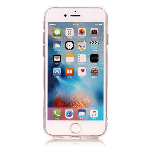 Roreikes Apple iphone 6S / 6 Hülle,Schale Etui Protective Case Cover TPU Silicone Bumper IMD Technologie Marmor Design für Apple iphone 6S / 6 (4,7 Zoll) 3#