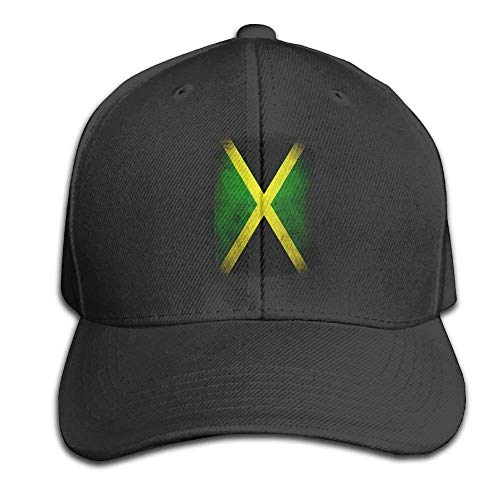 ewtretr Baseball Caps Hats Funny Bag Jamaica Flag Proud Jamaican Vintage Distressed Snapback Sandwich Cap Black Baseball Cap Hats Peaked Trucker Cap Adjustable Unisex Suitable for All Seasons -