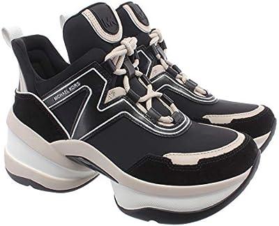 Sneakers Mujeres MICHAEL KORS 43R0OLFS1D Olympia Cuero Tejido Negro