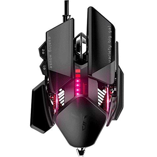 Maus mit Maus schwarz, 6-stufige DPI, LED, Energiespar-Modus Dual -