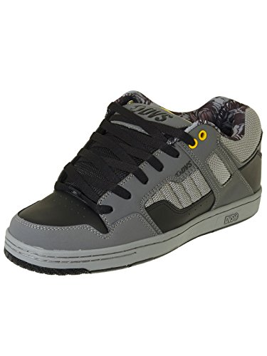 DVS Herren Enduro 125 Skateboardschuhe Black/Grey Leather Nubuck Deegan