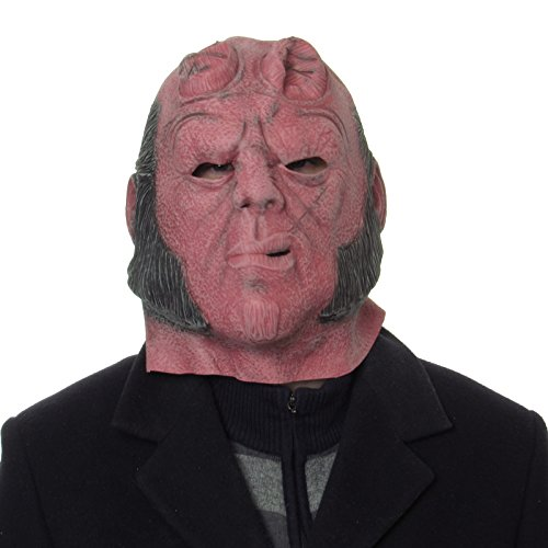 Hellboy Halloween Fancy Party Overhead Latex Masken Hellboy Film Maske aus ()