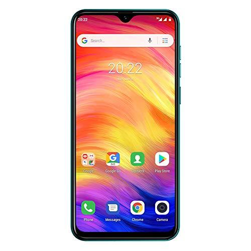 Ulefone Note 7 (2019) Simlockedfreie Handys Dreifach-Rückfahrkamera Smartphones entsperrt, 1GB+16GB Internal Speicher, 6,1-Zoll-Vollbild-Dual-SIM-Telefon für Android 9, Gesichtserkennung (Grün)