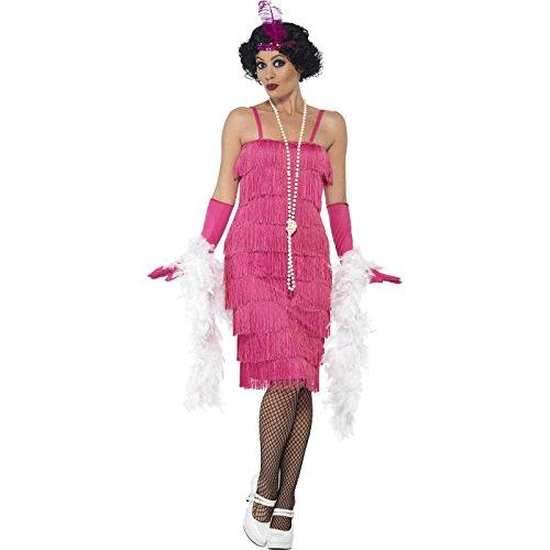 men Flapper Kostüm, Größe: 48-50, rosa (Krimi Kostüm Party)