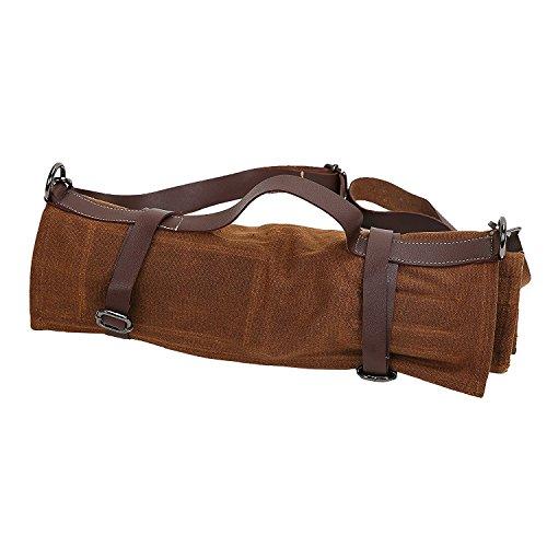 QEES utensili da cucina Chef coltello coltello roll 453,6gram tela cerata impermeabile bag 14slot Tool roll Up Storage Bag con manico o tracolla regalo per papà DD12