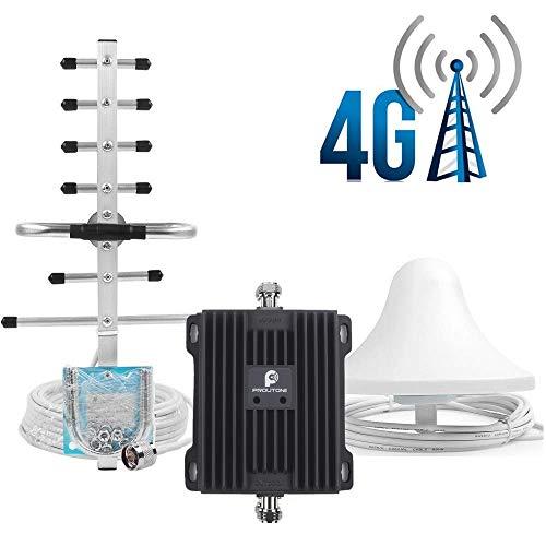 Proutone Mobilfunk Signal Verstärker Repeater Dual-Streifen Signal 4G LTE 800/2600MHz (Band 20/7) Verstärker 4g Netzwerkkabel Repeater für Zuhause und Büro Gsm Repeater