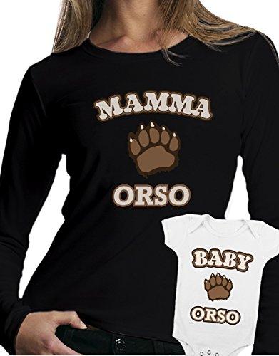 t-shirt manica lunga e body festa della mamma - Mamma orso, Baby orso -tutte le taglie uomo donna maglietta by tshirteria