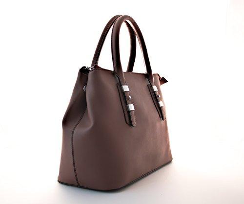 Sportliche Damen Handtasche, Diese Schultertasche gibt es in den Variationen Rot, Schwarz, Beige und Khaki Braun