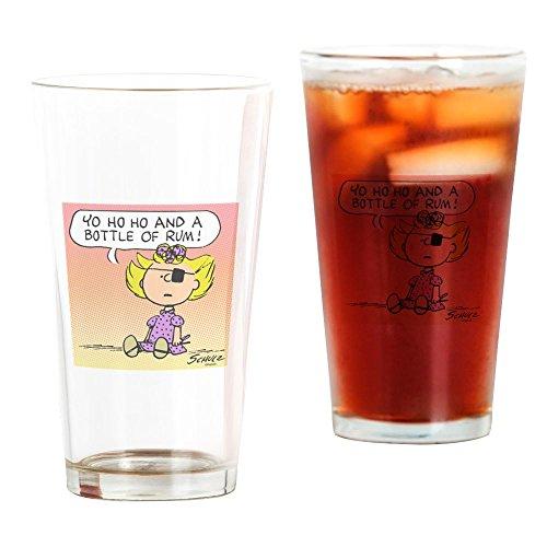 CafePress - Pirate Sally - Pint-Glas, 473 ml Trinkglas farblos (Eye Pirate Pink Patch)