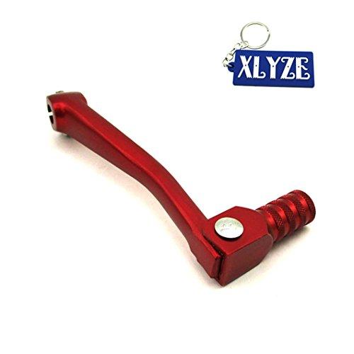 xlyze CNC Hebel Schalthebel Getriebe, faltbar, Aluminium Rot für chinesische 50cc 110cc 125cc 140cc 150cc 160cc Pit Dirt Bike XR50CRF50CRF70SSR Thumpstar -