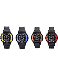 Iconic Digital Seven Light Combo Wrist Watch For Boy's & Kid's (Pack Of 4) - B07F37TVL7