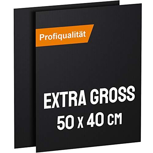 KOMOTO® BBQ Grillmatte (2er Set) 50x40 cm I Extra Dick I Für Gasgrill und Holzkohle (Bbq Fisch)