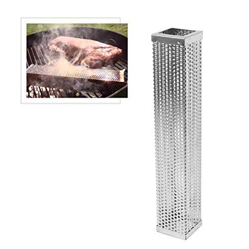 Yardwe tubo fumatore di pellet 12 pollici tubo forato in acciaio inox a pellet per fumatori, formaggio,pesce,maiale,manzo,frutta a guscio