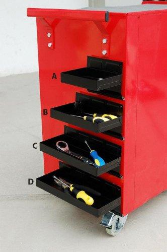 1 x Werkstattwagen Magnet Ablage / Dosenhalter / Magnetteller für Werkzeuge wie Steckschlüssel, Schraubendreher und Spraydosen (Magnetbehälter) 270 mm - 2