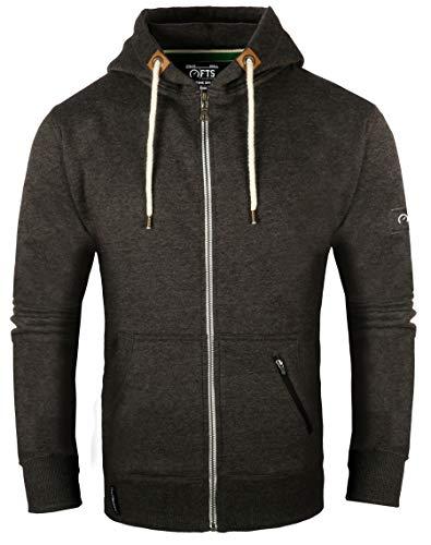 Full Time Sports Full Zip Hoodie - Large, Holzkohle (Männer Zip-up Hoodie Sweatshirt)