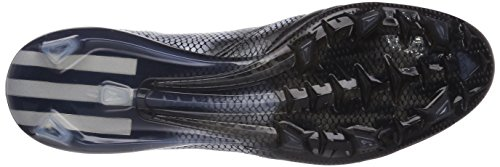 Adidas F50 Adizero Firm Ground (leather), Chaussures de Football Homme Noir (core Black/silver Met./silver Met.)