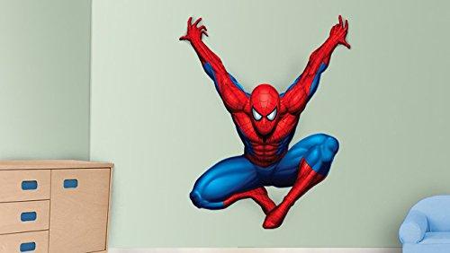 Kostüme Superhelden Diy Hund (Spiderman Wandaufkleber Dekor Decal Kunst für Kinder Schlafzimmer)
