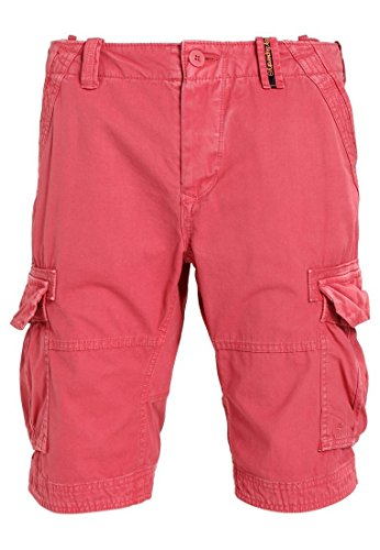 Superdry Herren Core Cargo Lite Short Rosso (Vintage Red)