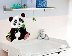 Wandsticker Panda Baby B x H: 30cm x 34cm (erhältlich in 5 Größen)