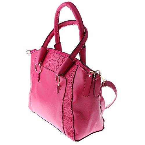Sharplace Donna Ragazze Moda Borsa Spalla Borsette da Polso Pochette da Giorno Sacchetto da Partito - Nero Rosa Rosso