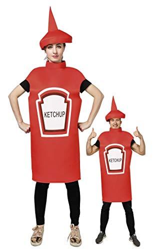 Senf Kostüm Ketchup - P'tit Clown re44402 Ketchup-Kostüm für Erwachsene