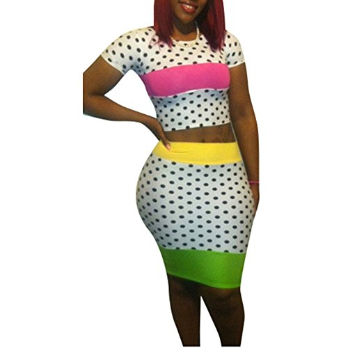Pinkyee Damen Kleid Pattern Color