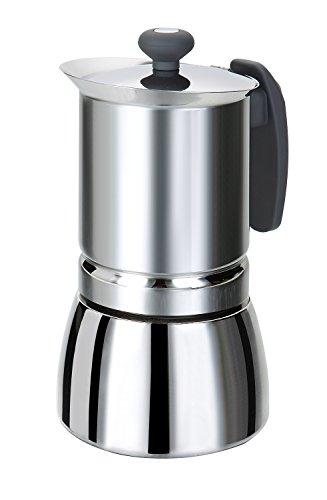 Rossetto – Edelstahl-Espressokocher mit Griff – Grau