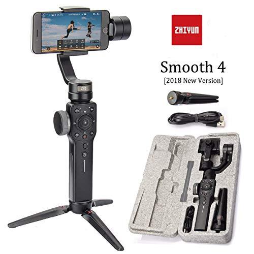 Zhiyun Smooth 4 3-Achsen-Handheld Gimbal Stabilisator w/Fokus Pull & Zoom-Fähigkeit für Smartphone wie iPhone X 8 Plus Samsung S9 + Camera Control Panel