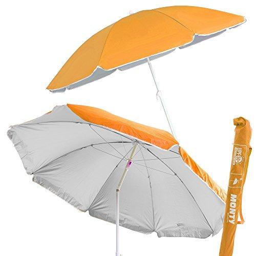 Sombrilla de playa plegable naranja de...