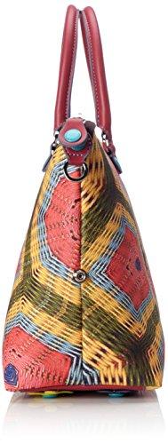Gabs Damen Katia Umhängetasche, 15 x 25 x 36 cm Mehrfarbig (Spirale)