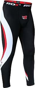 RDX Neoprene Compression Pantalon Tights Running Caleçon Collant Sport Triathlon - Noir/Rouge - xx-large
