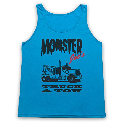 Tank-top Monster-truck (Inspiriert durch Pulp Fiction Monster Joe's Truck N Tow Unofficial Tank-Top Weste, Neon Blau, 2XL)