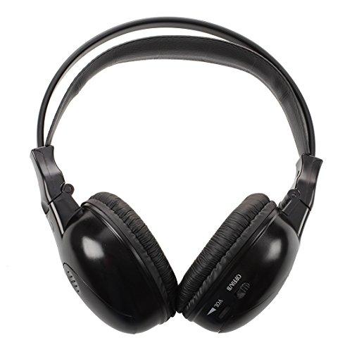 SODIAL Auriculares / audifonos estereo plegables infrarrojos