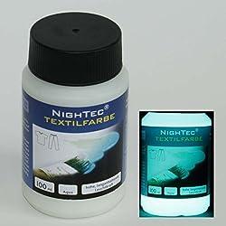 NighTec® Textilfarbe und Stoffmalfarbe - Nachleuchtfarbe