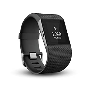 Fitbit Surge Ultimate Fitness Super Watch - Black, Large