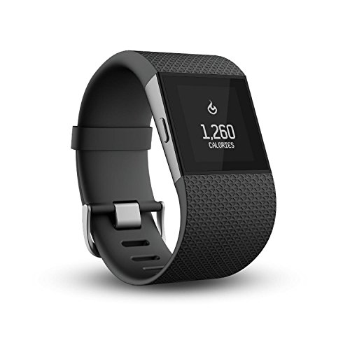 Fitbit Surge Fitness Super Watch, schwarz, L (161-193mm Handumfang)