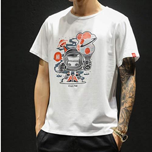 Eaylis-Herren tops T-Shirt Kurzarm Einfarbiges, Uni- Bedrucktes Kurzarm-T-Shirt FüR LäSsige Mode
