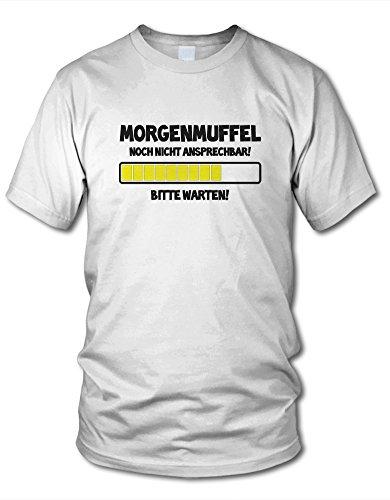 shirtloge - MORGENMUFFEL - NOCH NICHT ANSPRECHBAR! - KULT - Fun T-Shirt - in verschiedenen Farben - Größe S - XXL Weiß