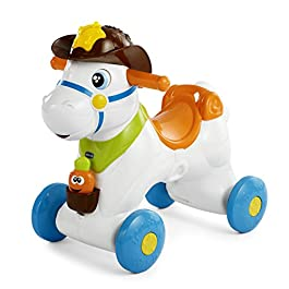 Chicco Cavallo a Dondolo per Bambini Baby Rodeo, Gioco Educativo e Interattivo, Cavalluccio Giocattolo Cavalcabile con…