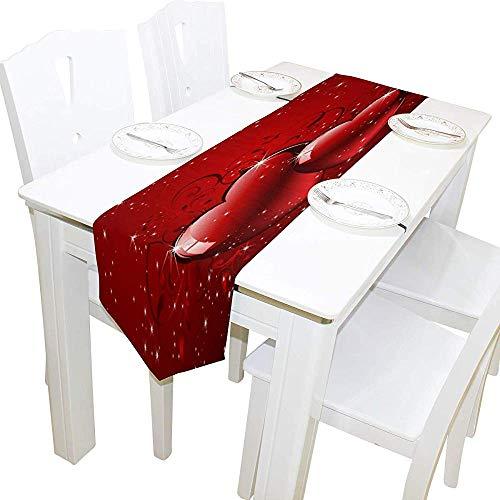 Reginald houston decorazioni per la casa runner da tavolo, san valentino scintilla love hearts tovaglia runner stuoia da caffè per decorazioni per banchetti per feste di nozze 13 x 90 pollici