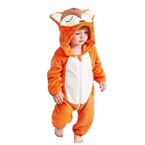 Tawcal Baby kostüm - Flanell Baby Anzug - Tier Cosplay Pyjama-Unisex Tier Baby kostüm Winter - Herbst Flanell Kapuzenanzug Cosplay Overall