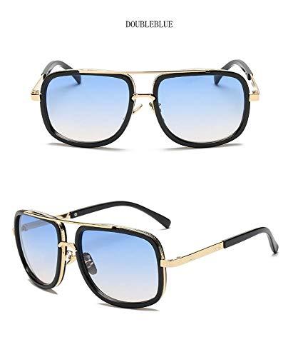 NHQA Sonnenbrillen Big Frame Sunglasses Men Square Brillen für Damen Sonnenbrillen, Schwarz